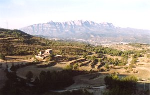 Panoràmica de la vall des del coll de Can Noguera